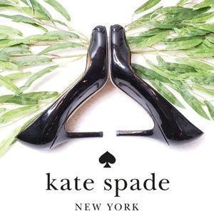 EUC Kate Spade Karolina Black Patent Heels
